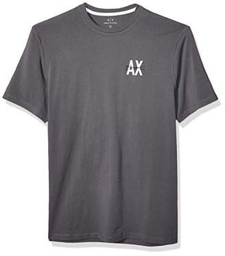 Armani Exchange A|X Men's T-Shirt with Circular Logo on Back