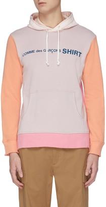 Comme des Garçons Shirt Colourblock multi-panel hoodie