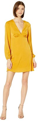 BCBGeneration V-Neck Dress ULL6255005 (Sunflower) Women's Clothing