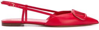 Valentino VLOGO slingback ballerina shoes