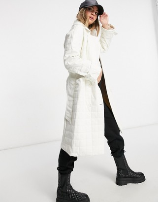 Public Desire trench coat in quilted pu