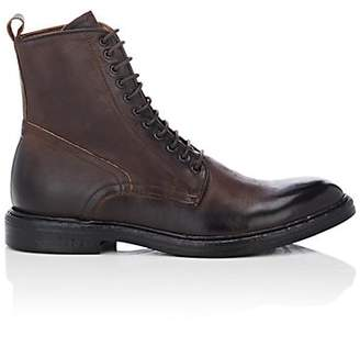 Barneys New York Men's Burnished Leather Boots - Dk. brown