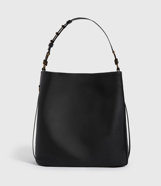 AllSaints Nina Stud North South Leather Tote Bag