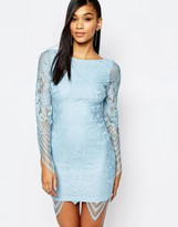Rare Allover Lace Dress with Scalloped Hem