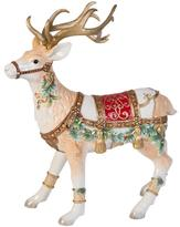Fitz & Floyd Hand Painted Yultide Holiday Deer Figurine