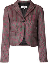 MM6 MAISON MARGIELA patterned cropped blazer