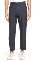Vince Men's Relaxed Crop Linen Trousers