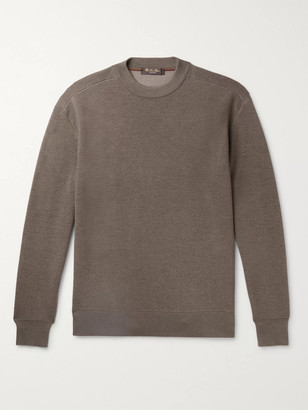 Loro Piana Hudson Virgin Wool, Silk and Cashmere-Blend Sweater - Men - Brown