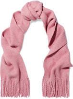 Rag & Bone Francie Fringed Ribbed Merino Wool-blend Scarf - Baby pink