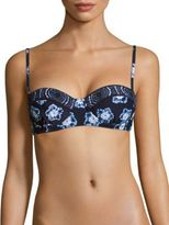 Michael Kors Printed Sweetheart Neckline Bikini Top