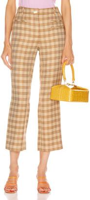 REJINA PYO Finley Trousers in Camel, Orange & Green | FWRD