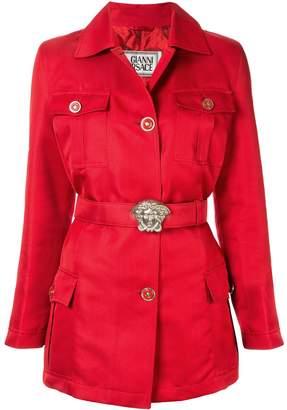 Versace Pre-Owned Medusa buckle belt jacket