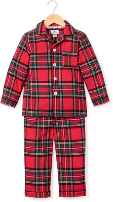 Petite Plume Imperial Tartan Plaid Two-Piece Pajama Set, Size 6M-14