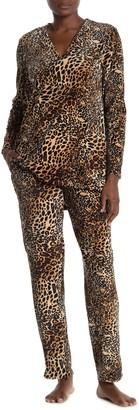 Natori Leopard Print Drawstring Pajama Pants