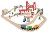 Hape Toddler Double Loop Railway Wooden Train Set