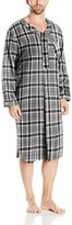 Majestic International Men's Holiday Mornings Flannel Nightshirt