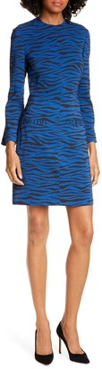 A.L.C. Noelle Long Sleeve Tiger Print Dress