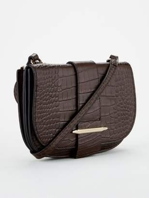 Karen Millen Manhattan Mini Crossbody Bag - Chocolate