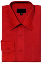 G-Style USA Men's Regular Fit Long Sleeve Solid Color Dress Shirts - Large - 34-35