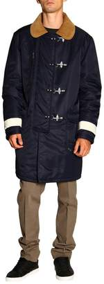 Fay Jacket Long And Waterproof Coat With Reflective Bands And Frogs