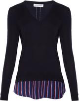 Altuzarra Colbert striped-hem wool sweater