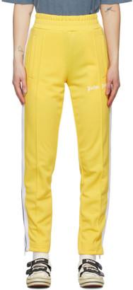 Palm Angels Yellow Classic Slim Track Pants