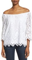 Vineyard Vines Women's Off The Shoulder Eyelet Top