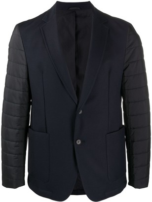 HUGO BOSS Single-Breasted Blazer With Padded Sleeves
