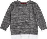 River Island Mini boys grey marl layered sweatshirt