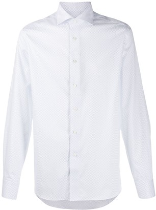 Canali paisley embroidered shirt