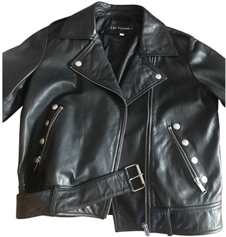 Les Petites Black Leather Jacket for Women