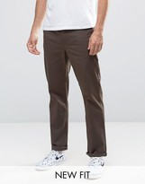 Asos Straight Chinos In Brown