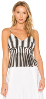 KENDALL + KYLIE Stripe Peplum Cami in Gray. - size XS (also in )