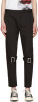 Comme des Garcons Black Belted Leg Trousers