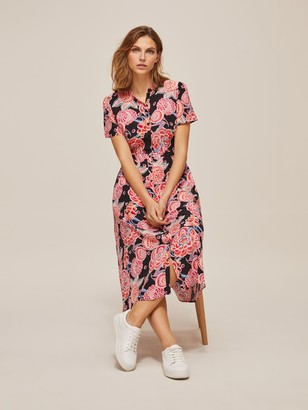 Somerset by Alice Temperley Chintz Floral Shirt Dress, Pink