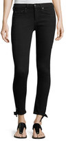 Rag & Bone Steve Mid-Rise Capri Jeans W/ Tie-Hem Detail, Black