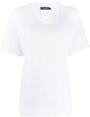 Dolce & Gabbana logo-embroidered T-shirt