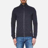 BOSS ORANGE Men's Zpandau Knitted Jacket Dark Blue