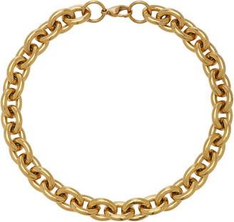 Fallon Alexandria 18k Gold-Plated Rolo Chain Necklace