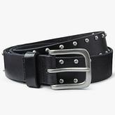John Lewis Alice Studded Leather Jeans Belt, Black