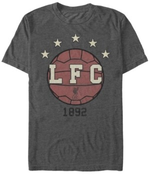 Liverpool Football Club Men's Classic Ball Established In 1882 Short Sleeve T-Shirt