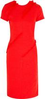 Altuzarra Strider fringe-trimmed slub stretch-crepe dress