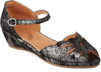 Gentle Souls Lilly Moon Metallic Demi-Wedge Sandals