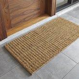 """Crate & Barrel Natural Knotted 24""""x48"""" Doormat"""