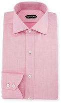 Tom Ford Slim-Fit Iridescent Barrel-Cuff Dress Shirt, Pink