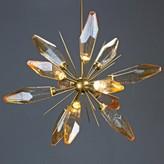 Rock Crystal Starburst 12-Light LED Sputnik Sphere Chandelier Hammerton Studio Finish: Heritage Brass, Shade Color: Chilled Bronze