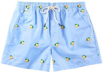 Trunks OAS Kid's Lemon Print Drawstring Swim Trunks, Size 2-14
