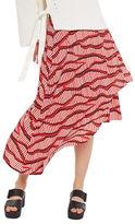 Topshop Matchstick Asymmetrical Midi Skirt