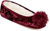 INC International Concepts Crushed Velvet Ballerina Slippers, Only at Macy's