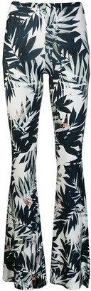 Black Coral Savage printed trousers